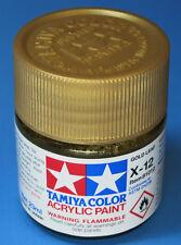 Tamiya GLOSS GOLD LEAF Acrylic Hobby Model Paint Acrylic X12  23ml 81012 X-12