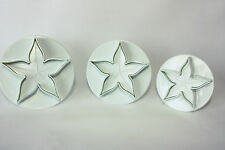 Set of 3 Calyx Plunger Cutters Sugarcraft, Cake Decorating, Baking
