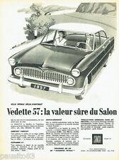 PUBLICITE ADVERTISING 026  1956  Simca  la Vedette Régence Versailles 2