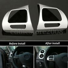 Insert Steering Wheel Chrome Cover Badge Trim For VW Golf MK6 Jetta Passat B7 CC