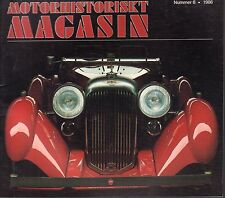 Motorhistoriskt Magasin Swedish Car Magazine #6 1986 Lagonda 031617nonDBE