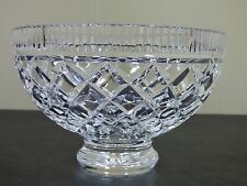 "Waterford Comeragh 7-7/8"" FOOTED SALAD / SERVING BOWL - EXCELLENT AND GORGEOUS"