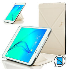 Leather White Origami Smart Case Samsung Galaxy Tab A 9.7 + Screen Prot & Stylus