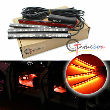 Orange LED Car Interior Under Dash Foot Lighting Kit | LED Accent Lights, 4 x 6""