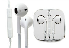 GENUINE APPLE iPHONE 5 5S 5C iPad Air HANDSFREE EARPHONES HEADPHONES WITH MIC
