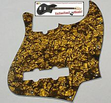 NEW PICKGUARD Jazz Bass gold pearl 3 ply pour Fender, Squier ou autre JBass