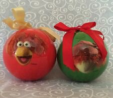 Set of 2 Fraggle Rock Christmas Ornaments Red & Boober Holiday Henson Muppets