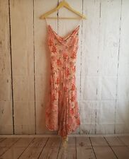 Betsey Johnson Dress Silk Blend sz 44 Floral 90's cowl neckline lace hem detail