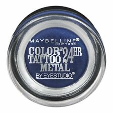 TWO maybelline color tattoo 24hr cream gel shadow,75 Electric Blue