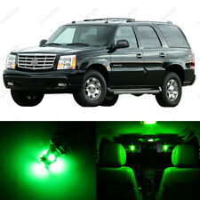 11 x Green LED Interior Light Package For 2002 - 2006 Cadillac Escalade