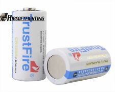 2X TrustFire NEW CR123A 3V 1400mAh Primary lithium Batteries White for SureFire