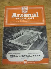 21/08/1954 Arsenal v Newcastle United  (Neat Match Details Noted On Cover/Inside
