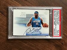 2003 CARMELO ANTHONY U.D. ULTIMATE COLLECTION AUTO ROOKIE CARD. PSA 9 MINT