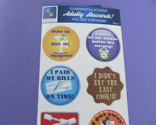 Adult Reward Stickers Series 1 You Adulted Today Congratulations adult humor