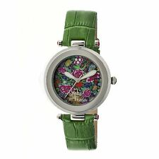 NEW Sophie And Freda SF1604 Women's Hidcote Collection Pretty Green Flower Watch