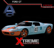 AUTOART 80513 1:18 FORD GT 2004 (BLUE/ORANGE) GULF RACING COLORS