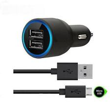 Belkin 2.1A 2-Port USB Car Charger & Micro-USB Cable For Samsung HTC SONY & LG