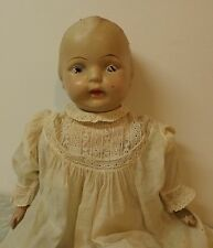 """Vintage Composition and Cloth Doll 25"""" 1920's AM Doll Co."""