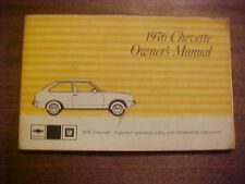 Chevrolet 1976 Chevette Owners Manual Good Used Condition