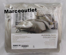 Hudson Park Luxe Collection Piazza KING Embroidered Duvet Cover Mocha