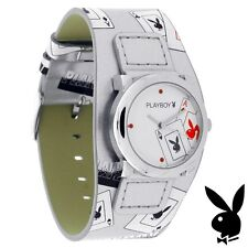 Playboy Watch Bunny ACES Playing Cards Leather Band Ladies Teens Womens HTF RARE