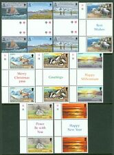 SOUTH GEORGIA : 1999-2000. Scott #225-29, 248-56 Gutter pairs 3 Cplt sets.VF MNH
