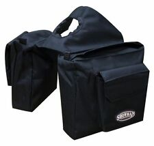 WESTERN HORSE HEAVY INSULATED BLACK NYLON SADDLE HORN BAG GOES ON YOUR HORN