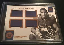 2016 PANINI ENCASED FOOTBALL STERLING SHEPARD QUAD ROOKIE JERSEY CARD /49 RC