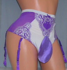 Victoria's Garter Thong SISSY POUCH PANTIES Crossdress for Men Sz 22-40