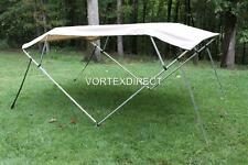"NEW VORTEX TAN/BEIGE 4 BOW PONTOON/DECK BOAT BIMINI TOP 8' long 79-84"" wide"