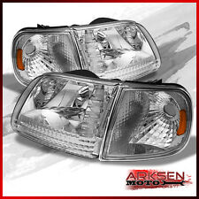 Fits 97-03 Ford F150 Expedition Headlights+Corner Signal Lights Lamps