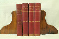 lot 4 old BOOks dark red maroon decorators shelf George Eliot Adam Bede Wormwood