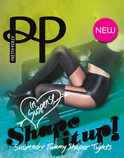 PRETTY POLLY SUSPENDER SHAPE IT UP TIGHTS M/L