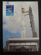 SWISS MK 1979 SPACE ROCKET ARIANE WELTRAUM MAXIMUMKARTE MAXIMUM CARD MC c1356