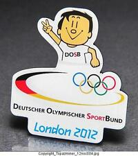 OLYMPIC PIN BADGE 2012 LONDON  DEUTSCHER OLYMPISCHER SPORTSBUND TEAM GERMANY NOC