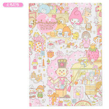 Japan SANRIO Characters A5 Notebook ❤ Wrapping Paper Friends Pink
