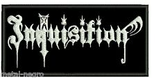 INQUISITION EMBROIDERED PATCH MAYHEM HORNA ISENGARD IMMORTAL PEST Metal Negro