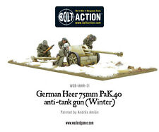 Warlord Games BNIB German Heer 75mm Pak 40 Anti-Tank Gun (Winter) WGB-WHR-31