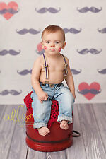 Photography Backdrops Mustache Valentine's Day, Vinyl Background Newborn Child
