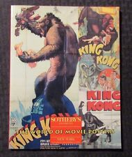 1994 Sotheby's Auction Catalog #6640 WORLD OF MOVIE POSTERS SC VF 8.0 King Kong