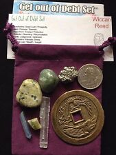 Get Out Of Debt Set  MONEY DEBT GOOD LUCK  WICCAN PAGAN SPELL ALTAR
