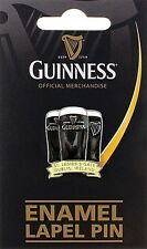 Guinness Three Glasses metal /enamel lapel pin badge. Licensed product (sg 5060)