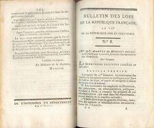 Bulletin des Lois de la République Française 2e Série/1ere Partie n° 1 à 34/1797