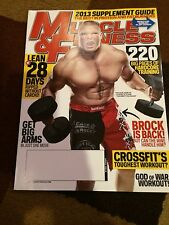 MUSCLE and FITNESS Magazine. April 2013. Brock Lesner. WWE