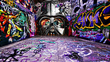street art print  star wars jedi alley CANVAS QUALITY painting A1 SIZE  coa