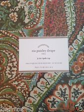 "2 Pottery Barn ZIA PAISLEY 3-in-1 Pole Top Drapes ~ 50"" X 108"""