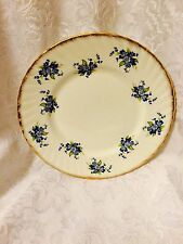 Salad Luncheon Plate Elizabethan Fine Bone China England Blue Floral Flowers