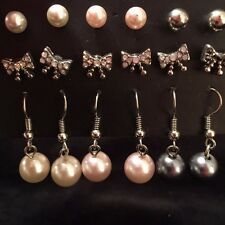 Earrings 6 pair set Faux Pearls Tally Weijl fashion blog style