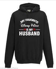 my favourite disney prince black hoodie large woman's hooded sweatshirt