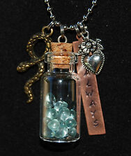 """Harry Potter~ Snape 'Always' Necklace,Tears in Bottle,Slytherin,Hand Stamped,28"""""""